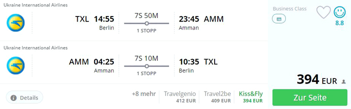 BerlinAmmanErrorFare